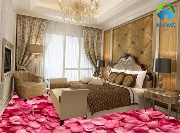 gạch lát nền 3d phòng ngủ