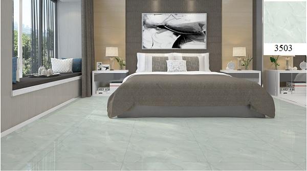 Gạch lát nền phòng ngủ Vitto giả đá