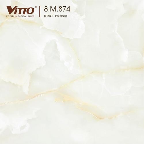 Mẫu gạch trắng vân mây 8M874 Chất lượng - Giá tốt