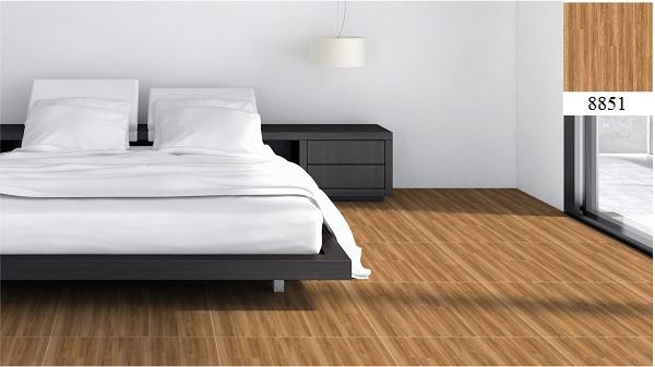 Gạch lát nền phòng ngủ Vitto giả gỗ