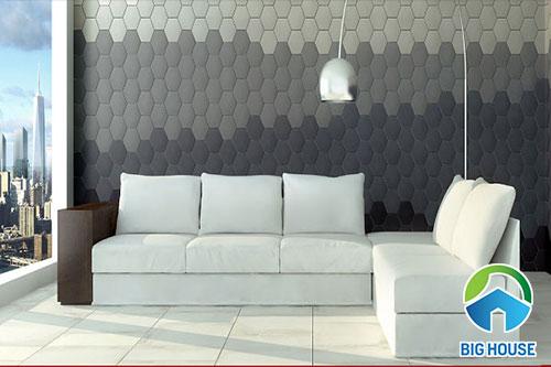 gạch lục giác ốp tường ấn tượng