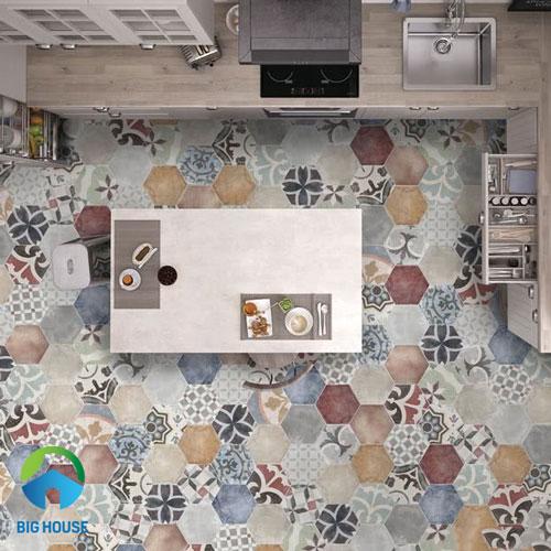 Top mẫu Gạch lục giác trang trí bếp, nhà tắm, phòng khách,… Ấn tượng