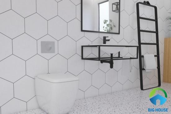 gạch lục giác trắng ốp tường