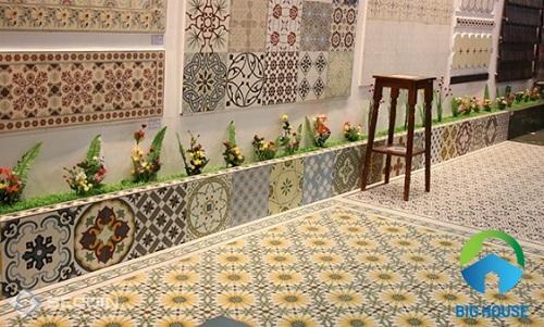 Gạch bông với họa tiết đa dạng phù hợp nhiều công trình