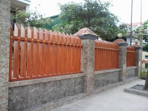 Gạch ốp tường hàng rào