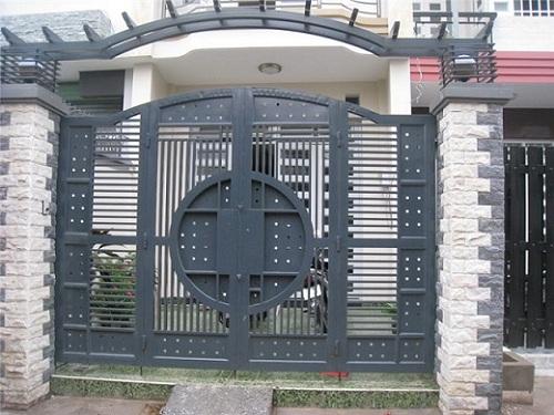 Gạch ốp tường ngoài trời cho cổng nhà
