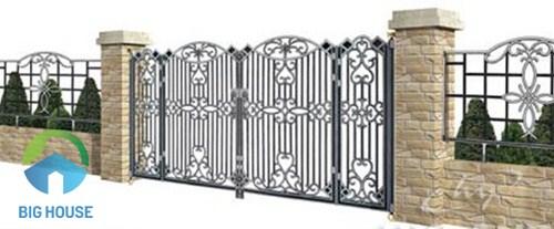 gạch ốp trụ cổng nhà sang trọng