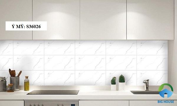 gạch ốp tường bếp màu trắng 2