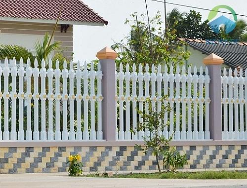 mẫu gạch ốp tường hàng rào