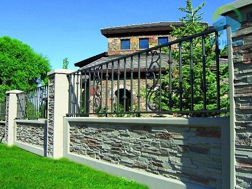 Cách chọn Gạch ốp tường hàng rào cùng phối cảnh Đẹp nhất