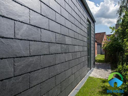 Gạch ốp tường sân sau