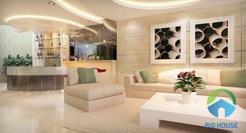 gạch ốp tường trang trí phòng khách