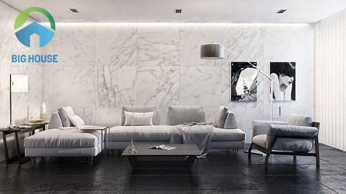 mẫu gạch ốp tường trang trí phòng khách đẹp