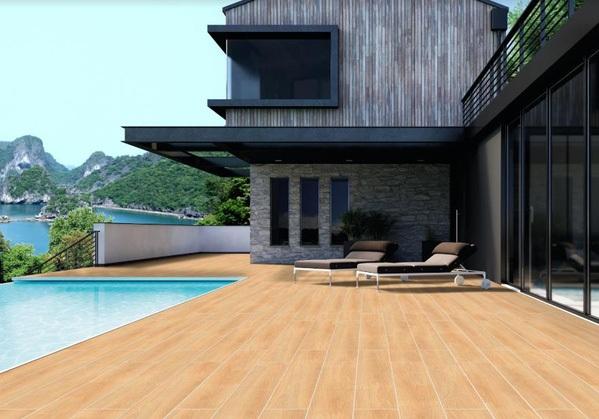 gạch vân gỗ lát ngoại thất đẹp