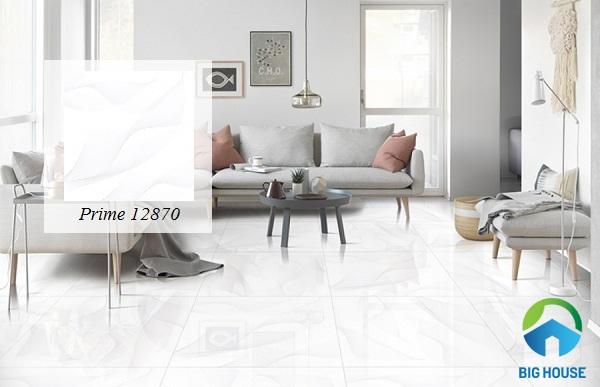 Gạch trắng giúp không gian sở hữu thêm tươi sáng