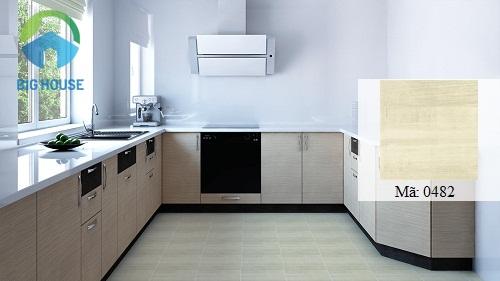 gạch vitto 30x30 giả gỗ cho nhà bếp sang trọng