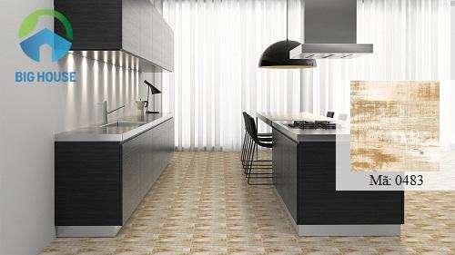 gạch vitto 30x30 giả gỗ cho nhà bếp