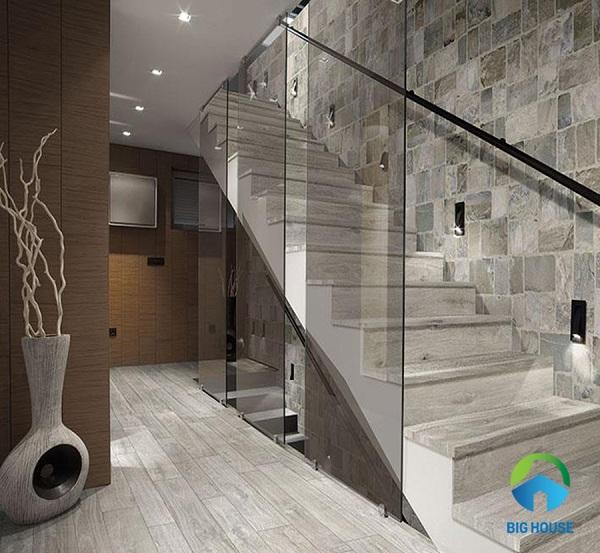 giá gạch giả gỗ lát cầu thang