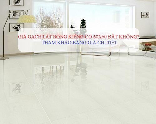 Giá gạch lát nền bóng kiếng 60×60 có đắt không? Cập nhật báo giá Chi tiết