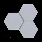 Mẫu gạch lục giác màu trắng