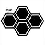 Mẫu gạch lục giác 26003 màu đen trắng sáng trọng
