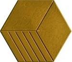 giá gạch lục giác 3 sọc màu vàng