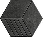 gí gạch lục giác lát 3 sọc màu xám