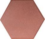 Gạch lục giác đỏ chuyên được dùng cho vỉa hè