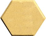 Mẫu gạch lục giác màu vàng đẹp mắt