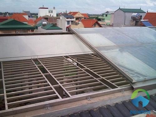 giếng trời cho nhà mái tôn 4
