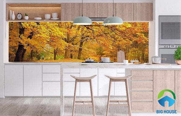 mẫu gạch 3d ốp tường bếp đẹp