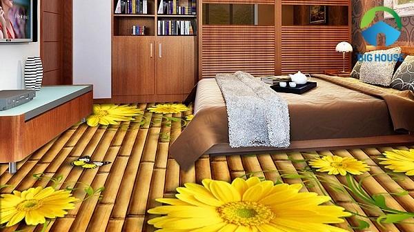 mẫu gạch lát 3d phòng ngủ