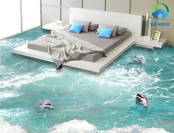 mẫu gạch lát 3d phòng ngủ mới
