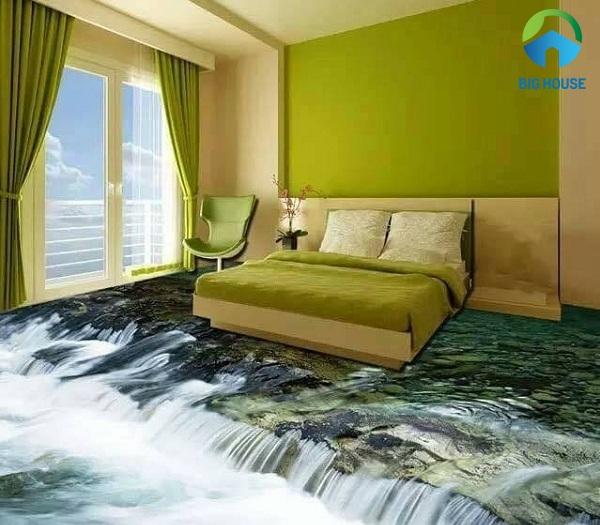 mẫu gạch lát nền 3d phòng ngủ