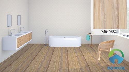 mẫu gạch lát nền nhà vệ sinh màu nâu
