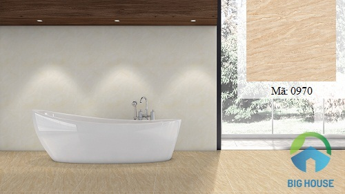 mẫu gạch lát nền nhà vệ sinh màu nâu vân gỗ