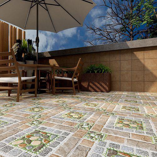 Gạch lát sân vườn chống trơn với bề mặt định hình