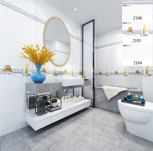 Gạch ốp nhà vệ sinh Vitto ấn tượng
