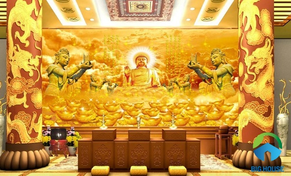 Tranh gạch 3D phòng thờ: Một số lưu ý kèm Top mẫu đẹp nhất