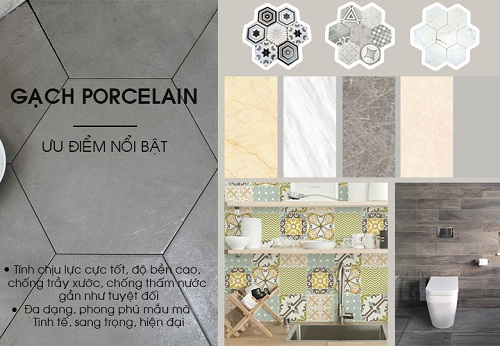 ưu điểm của gạch porcelain